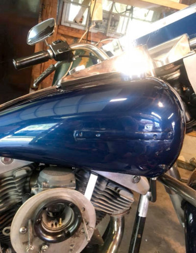 After Repairing Dent in Motorcycle