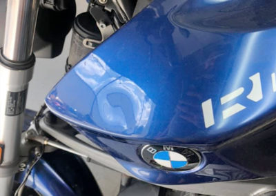 Before Motorcycle Dent Repair